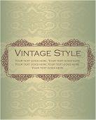 Elegant vintage style design element
