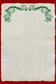 Christmas style vintage vellum paper template or card