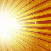 Star burst explosion background
