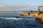Cliffs On The California Coastline In La Jolla