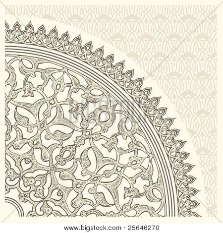 Постер, плакат: фон с бесшовные модели в арабском стиле, холст на подрамнике