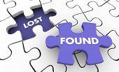 Lost and Found Searching Finding Missing Items Puzzle 3d Illustration poster