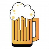 picture of beer mug  - cartoon illustration of a tankard with beer - JPG