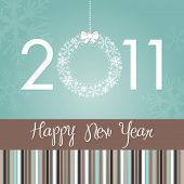 Beautiful Stylish New Year Card