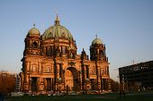 berlin dome at sunset