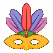 Carnival Mask Icon. Cartoon Illustration Of Carnival Mask Icon For Web poster