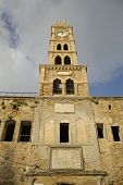 clock tower in akko isreal