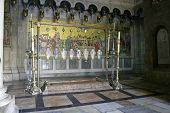 sepulchre of Jesus Christ in the church of the holy sepulchre, jerusalem, israel