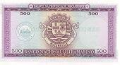 Bill 500 escudo de Moçambique, 1967