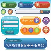 Vector set of internet elements