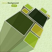 Abstract green background, vector