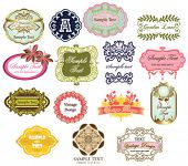 vintage labels collection 2