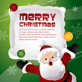 christmas happy santa template design
