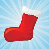 Illustration of christmas sock, for vector version please check my gallery