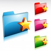 favorite folder icon with color variations
