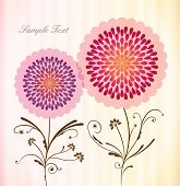Beautiful Floral Background in Vintage Style. Vector Illustration.