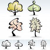 Novo!  Árvore moderna ícones