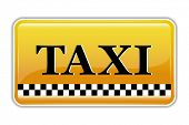 illustration of taxi symbol on isolated background