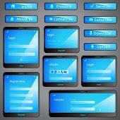 illustration of set of web form template in mobile