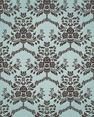 Damask seamless pattern in retro style with floral elements. Could be used as textile, wallpaper, wr