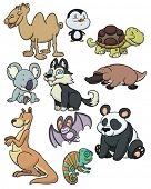 foto of platypus  - Ten cute cartoon animals - JPG