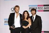 LOS ANGELES - NOV 20: Dave Haywood, Hillary Scott; Charles Kelley of Lady Antebellum at the 2011 Ame