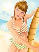 Summer Sexy Bikini Girl