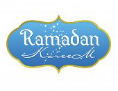 Ramadan greetings in english script. Translated from arabic as 'Ramadan Kareem'. Vector illustration