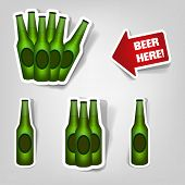 set of design elements to advertise beer party