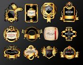 set of luxury labels