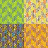Pattern from orange segments of four different colors
