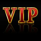 VIP gold letters. Vector illustration.