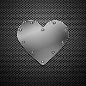 Metallic heart. Vector illustration. Eps10