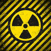 foto of radium  - Sign radiation - JPG