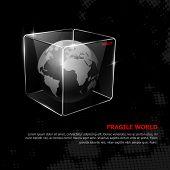Fragile Welt. Vektor abstraktes Konzept.