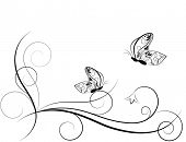 Butterfly. Vector