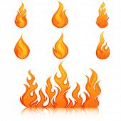 pic of fireball  - Fire flames - JPG
