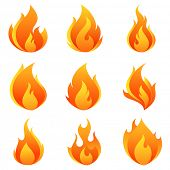 stock photo of fireball  - Fire flames - JPG