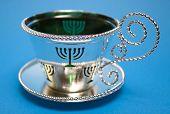 Menorah Cup And Saucer