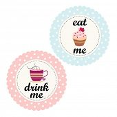 pic of tea party  - Alice In Wonderland Labels - JPG