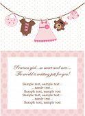 Baby Girl-Einladung