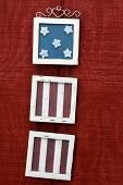 Red White And Blue Wall Hanging
