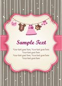 Baby girl invitation card