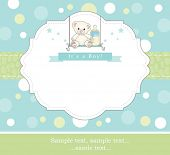 New baby boy shower invitation