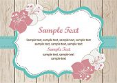 stock photo of bridal shower  - Vintage card on wood - JPG