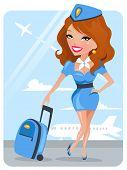 hübsch stewardess