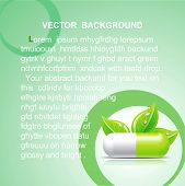 Vector medical background with green pill.