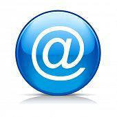Raster blue e-mail internet icon button