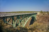 Old Iron Bridge Over The Crooked River Canyon