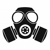 Chemical Gas Mask Icon. Simple Illustration Of Chemical Gas Mask Bread Icon For Web poster